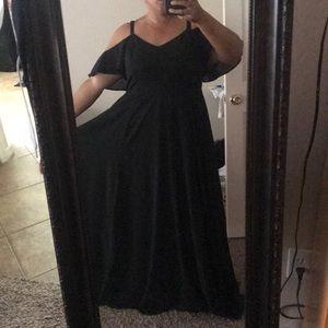 Torrid Sz 16 Black Floor Length Gown